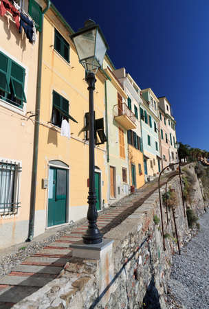 promenade in Bogliasco, small village in Liguria, italy photo