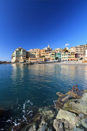 view of Bogliasco, small village in Mediterranean sea Stock Photo - 12056011