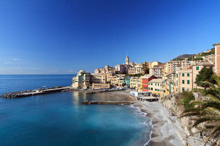 Bogliasco, small village in Mediterranean sea, Italy