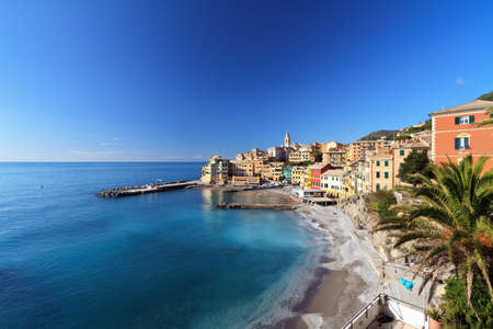 overview: overview of Bogliasco, small village in Liguria, Italy