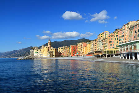 Camogli, famous small town in Liguria, Italy photo