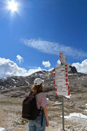 directions for trekking in Pale di San Martino mount, Italiy