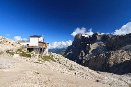 martino: landscape from Rosetta mount, San Martino di Castrozza, Italy Stock Photo