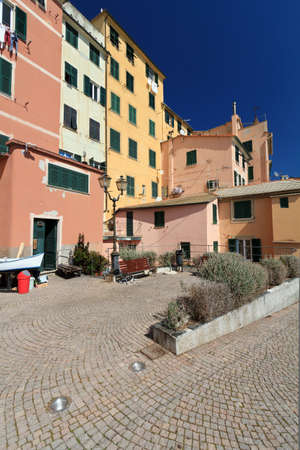 characteristic view in Sory, small village in liguria, Italy photo