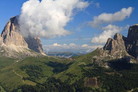 sella: Dolomites  Sella pass between Gardena and Fassa valley