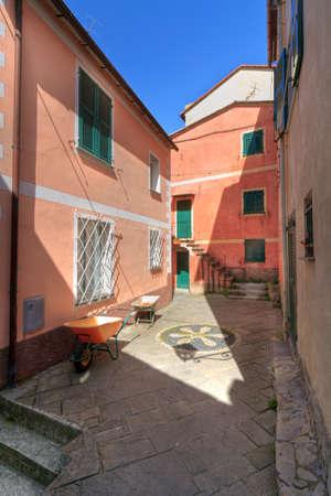 small square in San Rocco di Camogli, Liguria, Italy photo