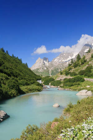 beautiful stream in Veny valley, Courmayeur  Italy photo