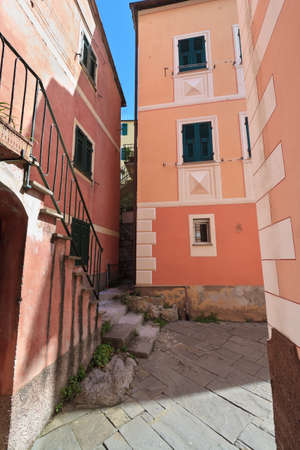street view in Mortola in San Rocco, Camogli, Italy Stock Photo - 14216275