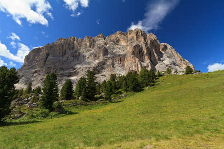 sudtirol: summer view of Sassolungo mountain, Sudtirol, Italy