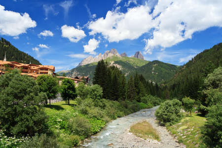 Avisio river in Fassa Valley, Trentino, Italy Stock Photo - 14395122
