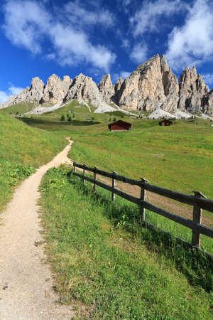 Cirspitzen montain from Gardena pass, Italian Dolomites