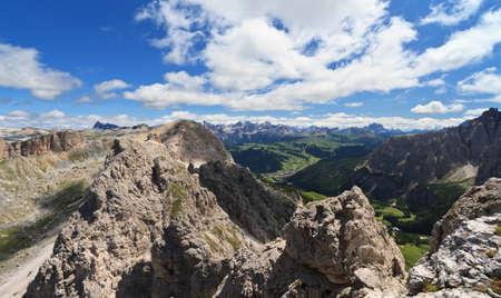 cir: Badia Valley from Cir mountain, Italian Dolomites