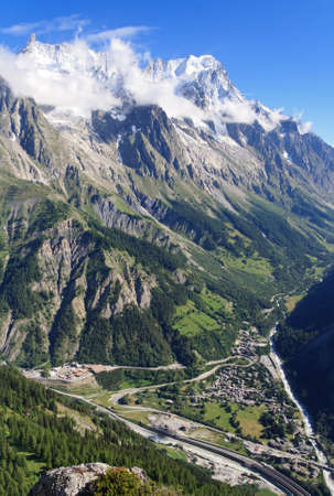 Ferret Valley with Mont Blanc tunnel at the bottom Stock Photo - 15176958