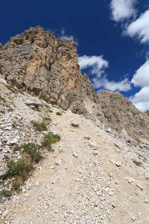 sud tirol: view of Gran Cir mount, Trentino  alto Adige, Italy Stock Photo