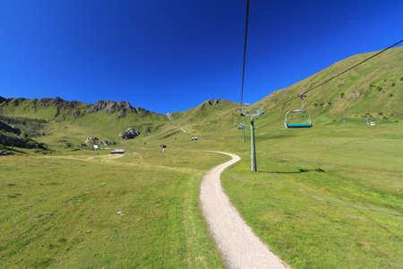 summer landscape in Ciampac of Canazei, Fassa Valley, Italian Dolomites