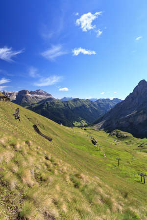 Ciampac of Canazei, Fassa Valley, Trentino, Italy Stock Photo