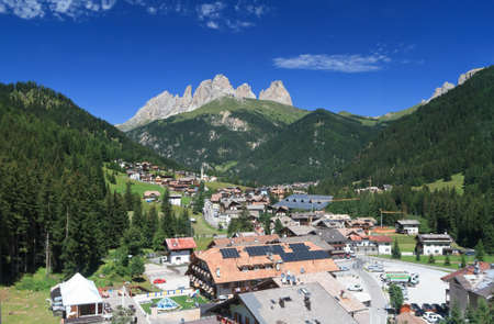 Alba di Canazei, small town in Val di Fassa, Italy photo