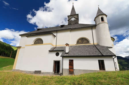 typical alpine church in Laste, Italian Dolomites Stock Photo - 17980486