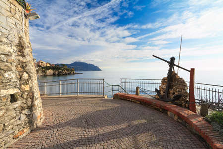Liguria - promenade in Sori photo