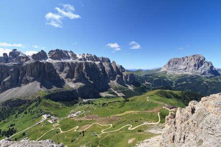 sella: Gardena pass and Sella mount, Italian Dolomites