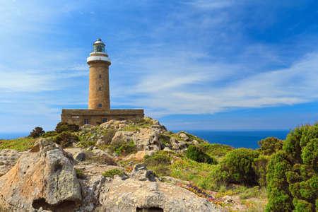 lighthouse in San pietro island, Carloforte, Sardinia, Italy