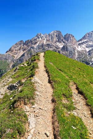 fassa: Contrin and Fassa valley, Trentino, Italy Stock Photo