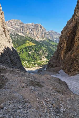 sella: High Badia Valley from Setus Valley, Alto Adige, Italy