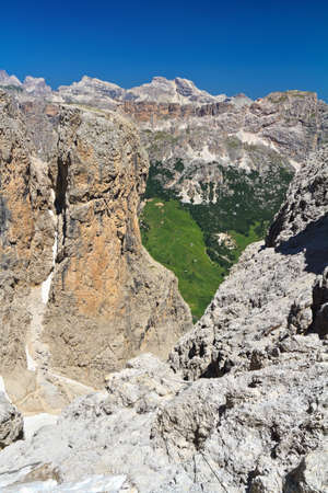 sella: summer view of Setus Valley from Sella mount, Italy Stock Photo