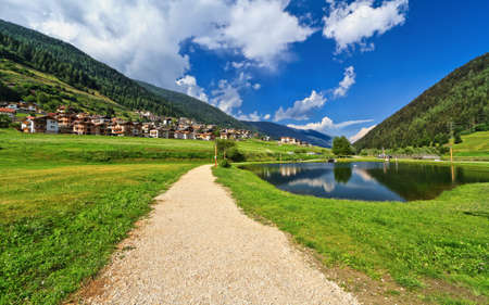 Italian Alps in Vermiglio, Val di Sole, Trentino, Italy photo