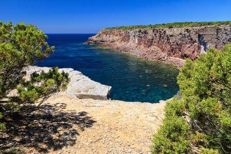 pietro: Mezzaluna cliffs in San Pietro island, Sardinia, Italy