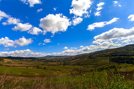 agronomist: landscape in italy irpinia