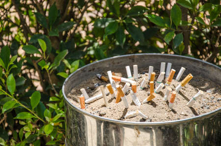 Public smoking and ashtray