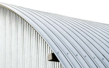White sheet metal roof. Stock Photo - 79448383