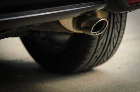 exhaust pipe of car