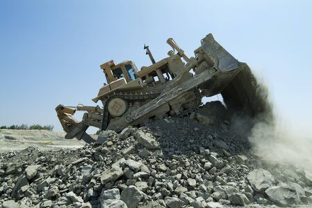 dozer: Bulldozer Dozer Machine Earthmoving Vehicle in Dynamic Action