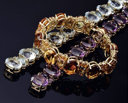 opal: Three Bracelets in Different Colors of Opal