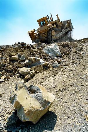 earthmover: Bulldozer Machine Earthmoving Vehicle in Dynamic Action