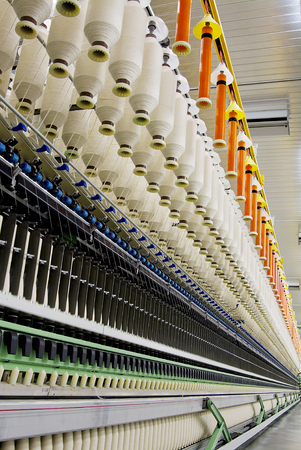 carding: Detail line production of textile spinning machines