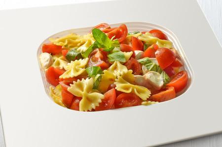 pasta salad: Pasta salad with Tomatoes Mozzarella and Basil