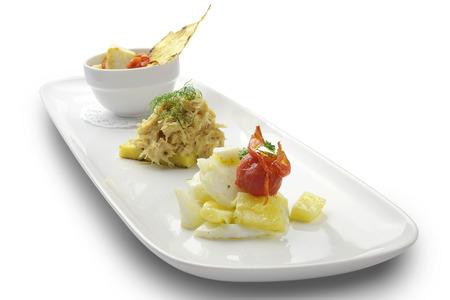 stockfish: Fish dish The cod and stockfish assorted