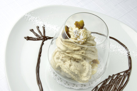 marron: Dessert The different textures Chestnut in a Glass