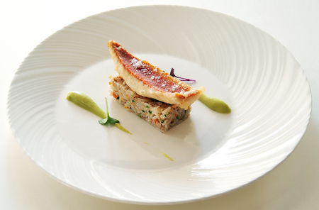mullet: Dish of Basmati Rice with Vegetables and Red Mullet