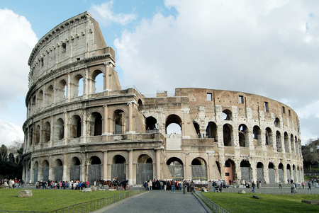 Rome Monument Colosseum or Flavian Amphitheatre Stock Photo