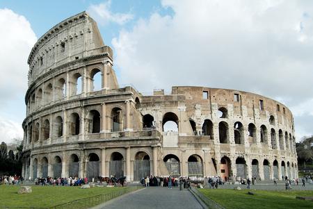 rome italy: Rome Monument Colosseum or Flavian Amphitheatre Stock Photo