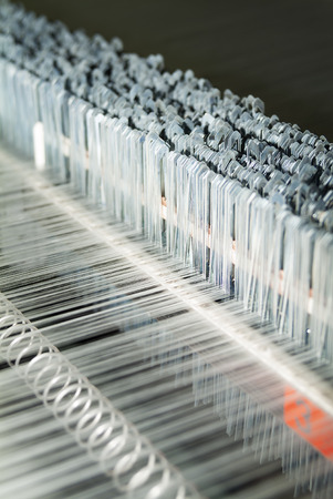 Detail of Textile Machine working in a factory