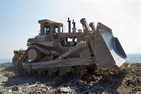 Bulldozer Dozer Machine Earthmoving Vehicle in Action