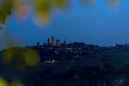 Panoramic view of San Gimignano, Tuscany