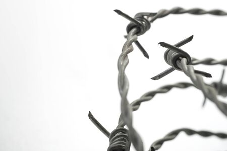 Barbed wire spirals with selective focus for blur effects