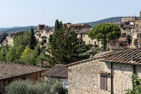 Partial View  of San Gimignano Siena Tuscany
