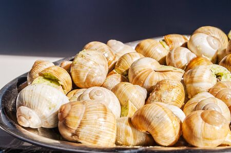 issued: tasty and exotic dish from moreproduk issued in the stuffed snails